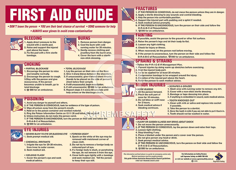 Tactueux image regarding free printable first aid guide